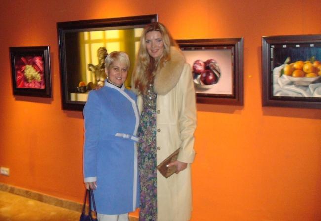 Con la pintora rusa Anfisa Zinchenko