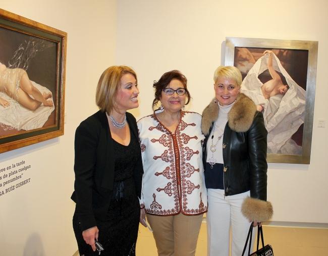 Con la pintora Soledad Fernández