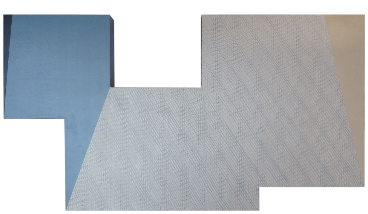 Quebrado textura azul