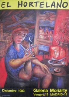 Cartel para la exposición de El Hortelano en la galería Moriarty