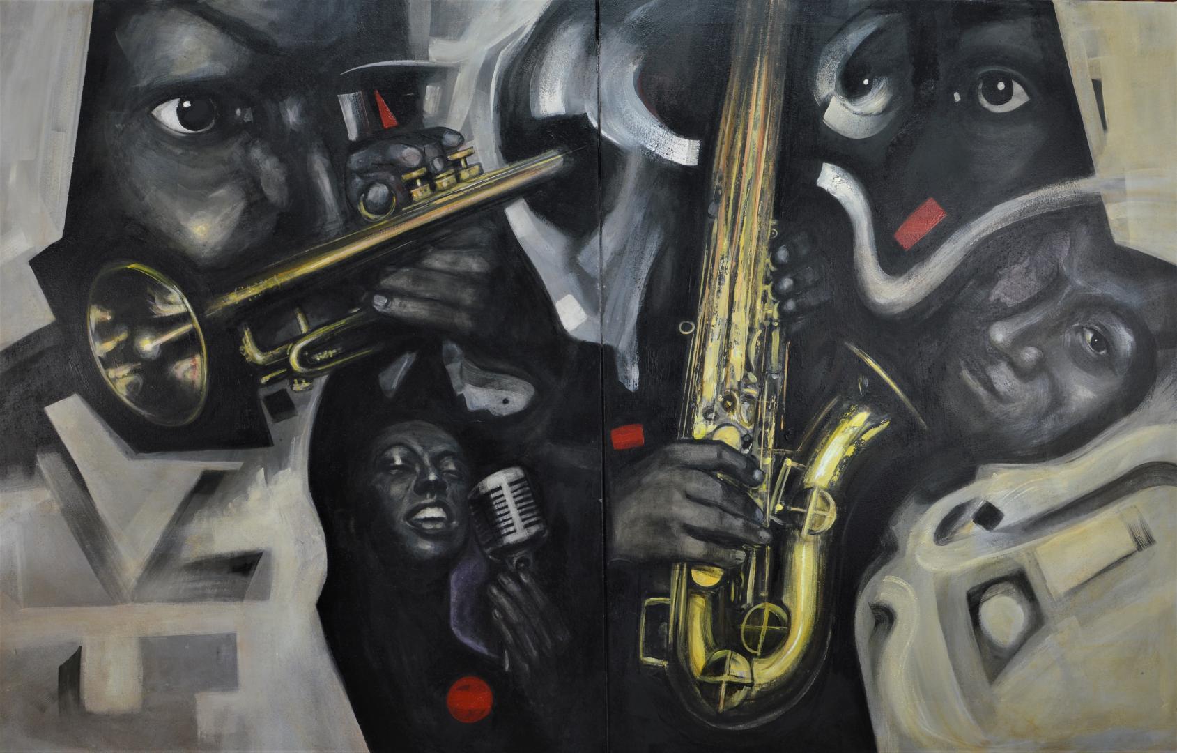 Jazz, negro, blanco y oro (2019) - José Luis Madrazo Gastaudi - madrazo-Taudi