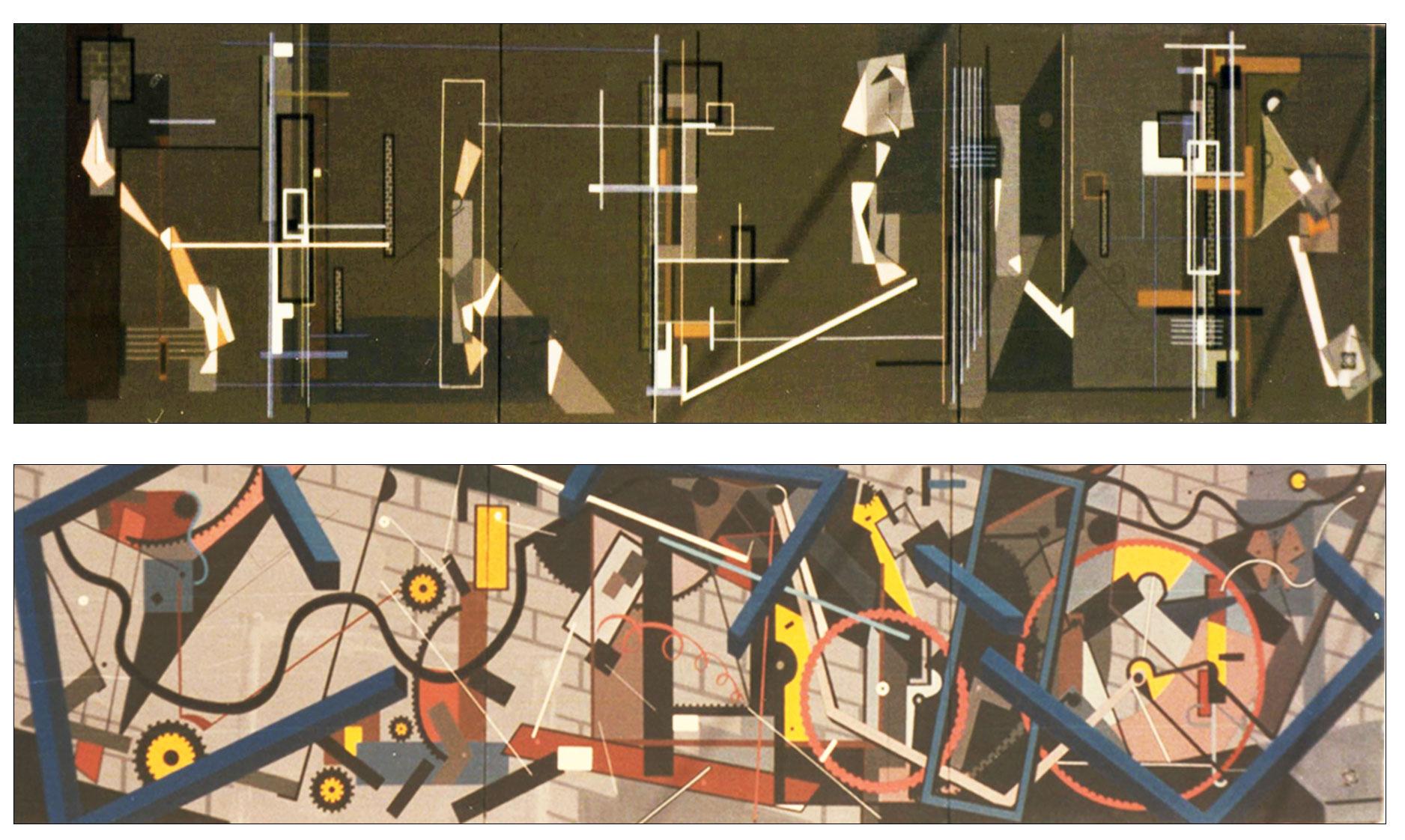 Reflexiones sobre dos líneas grises (2 Trípticos) (1983) - Dolors Salvà Farrarons - Dolors Farrarons