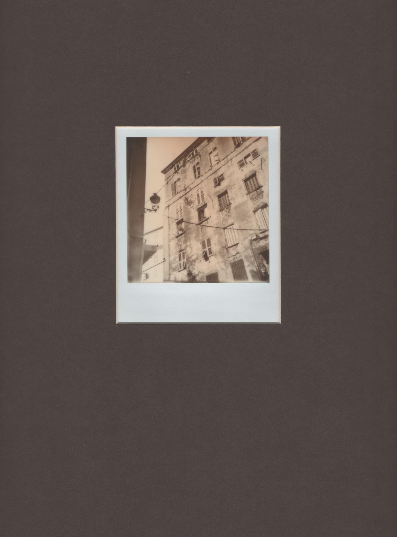 Córcega vista desde una cámara Polaroid