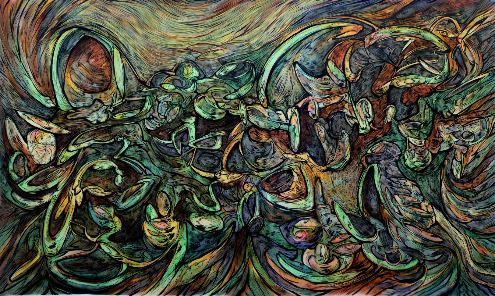 Pintura n°5 (2018) - Alejandro Mendez - Mendez Art