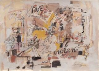 Sarah Grilo. Untitled, 1998. Mixed media on paper. 50,6 x 70 cm. Cortesía de Galerie Lelong