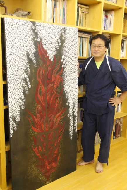 Foto: SatoruYamada en el taller de Kato Hiromitsu