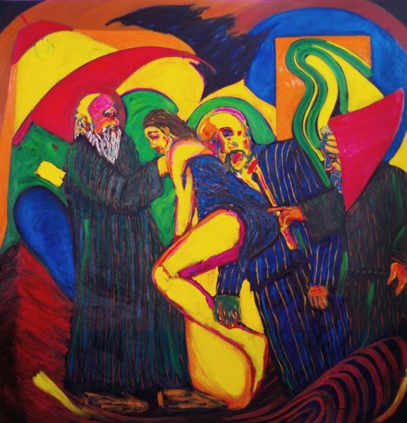 Susana y los viejos - óleo sobre lienzo - 200 x 190 cm - 2014