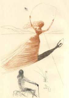 Alicia en el País de las Maravillas por Salvador Dalí