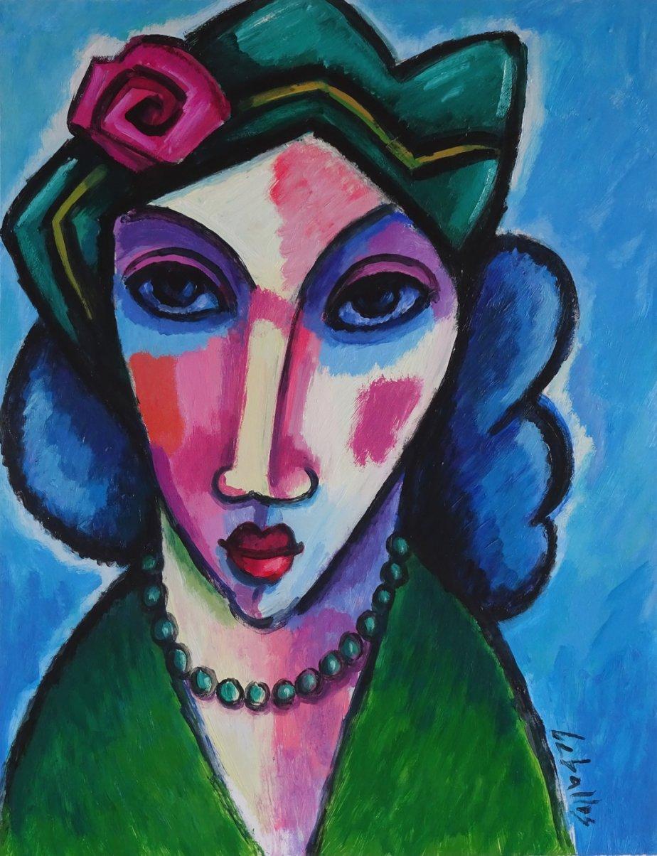 Mujer con sombrero verde (2016) - Guillermo Martí Ceballos