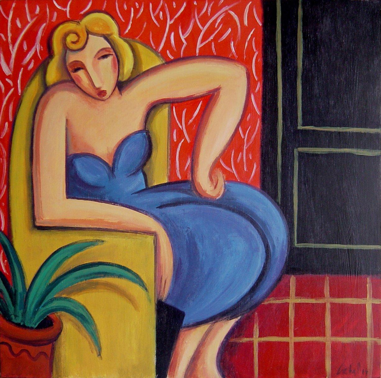 Rubia en el sofá amarillo (2011) - Guillermo Martí Ceballos