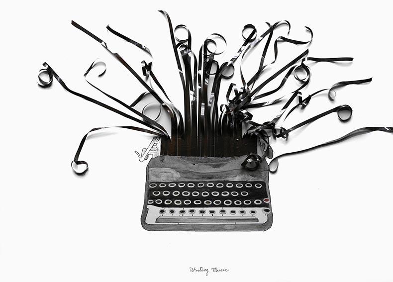 Escribiendo música / Writing music (2020) - Glenda León