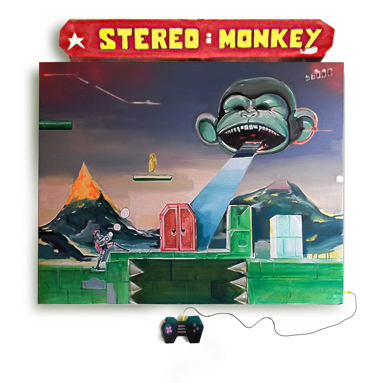 STEREO MONKEY. SERIE ARCADE PAINTINGS (2018) - Jonathan Notario