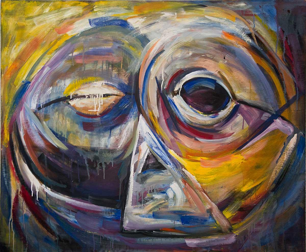 Máscara (óleo 121 x 100 cm.) (2015) - Irantzu Lekue
