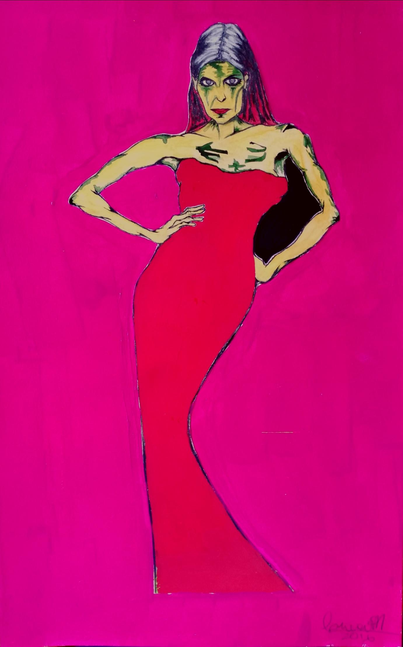 mujer en rojo (2016) - Corina Rodriguez Anievas