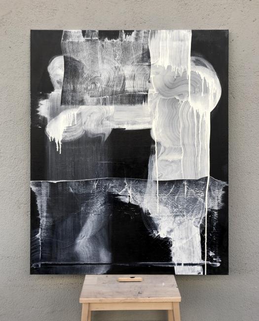 Pilares, 2019. 81x100 cm. Acrílico sobre lienzo.