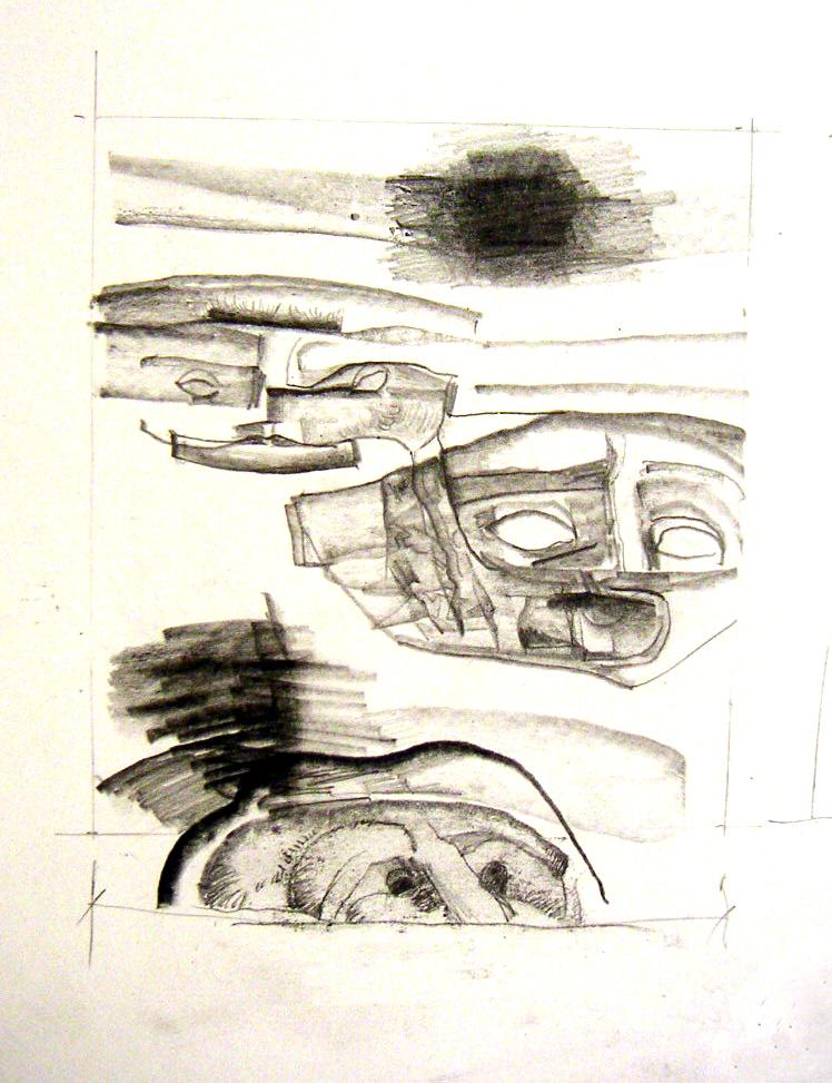Divina Comedia - Apunte máscaras muro (2007) - José Antonio Eslava
