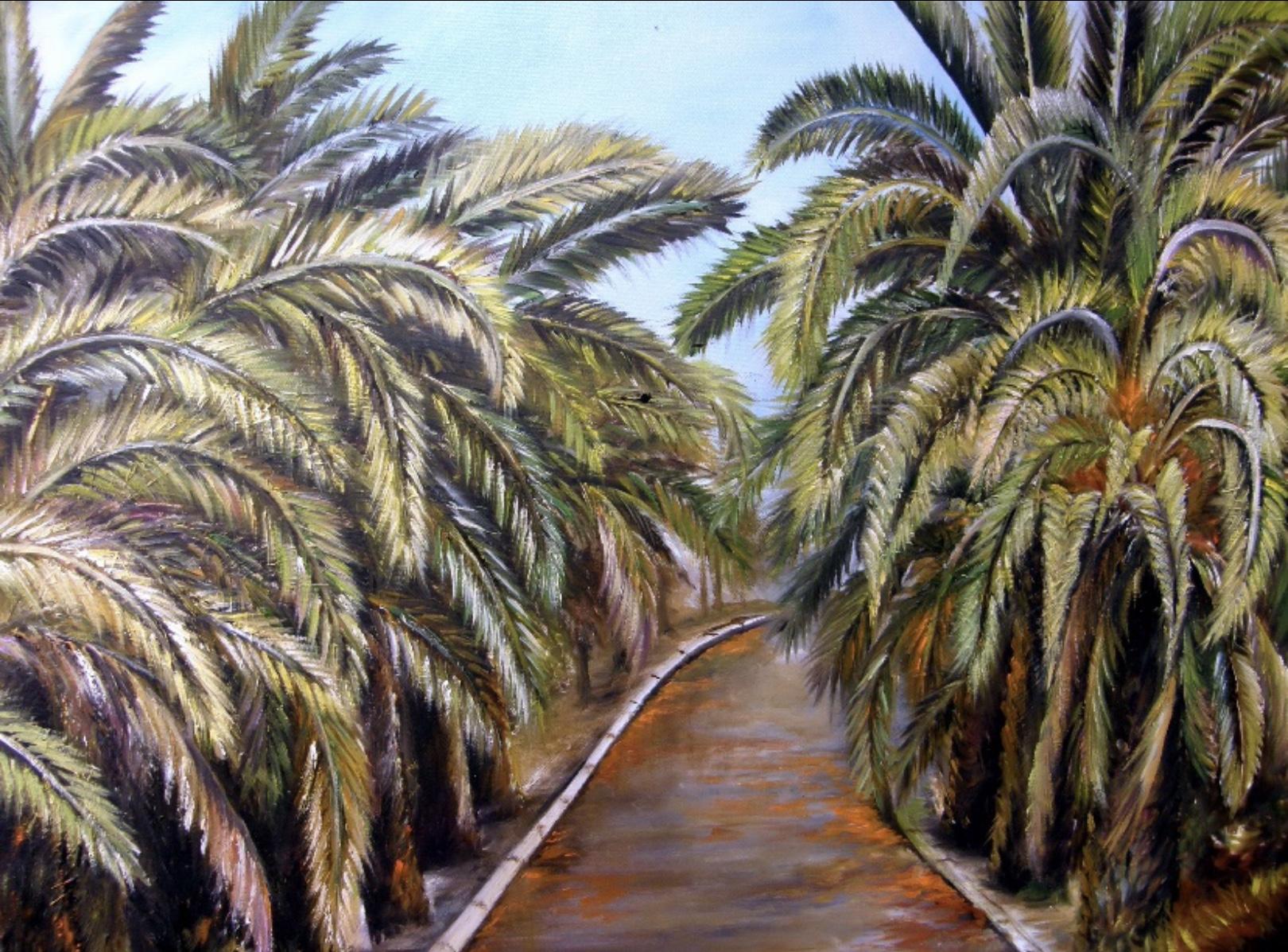 Avenida con palmeras canarias (2014) - Elena Robayna Abreut