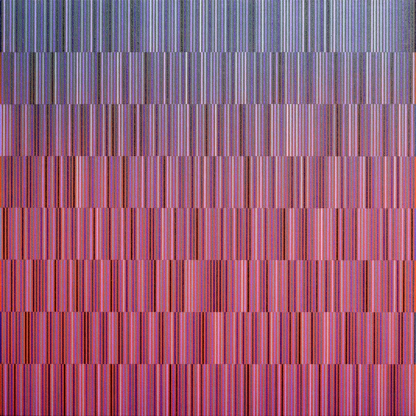 03 T10. De negro de viña y violeta / degradado verde a naranja. (2017) - Antonio Javier Ortega Rodríguez