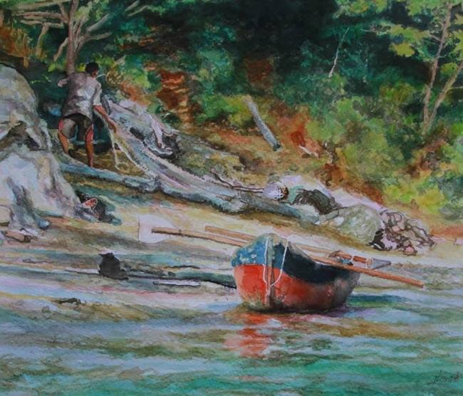 Pescando en Taganga
