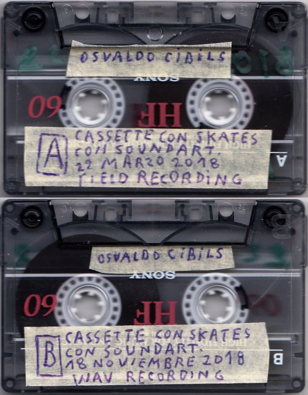 Cassette con skates con soundart. (2018) - Osvaldo Cibils