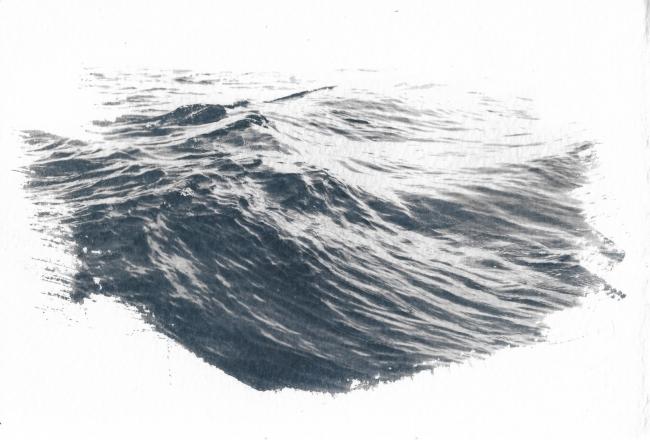 Cianotipia de la serie Mareas