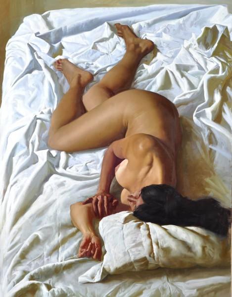 Desnudo sobre fondo blanco, 2011