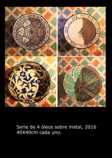 "Óleo sobre metal. Serie"" 4 cerámica"""