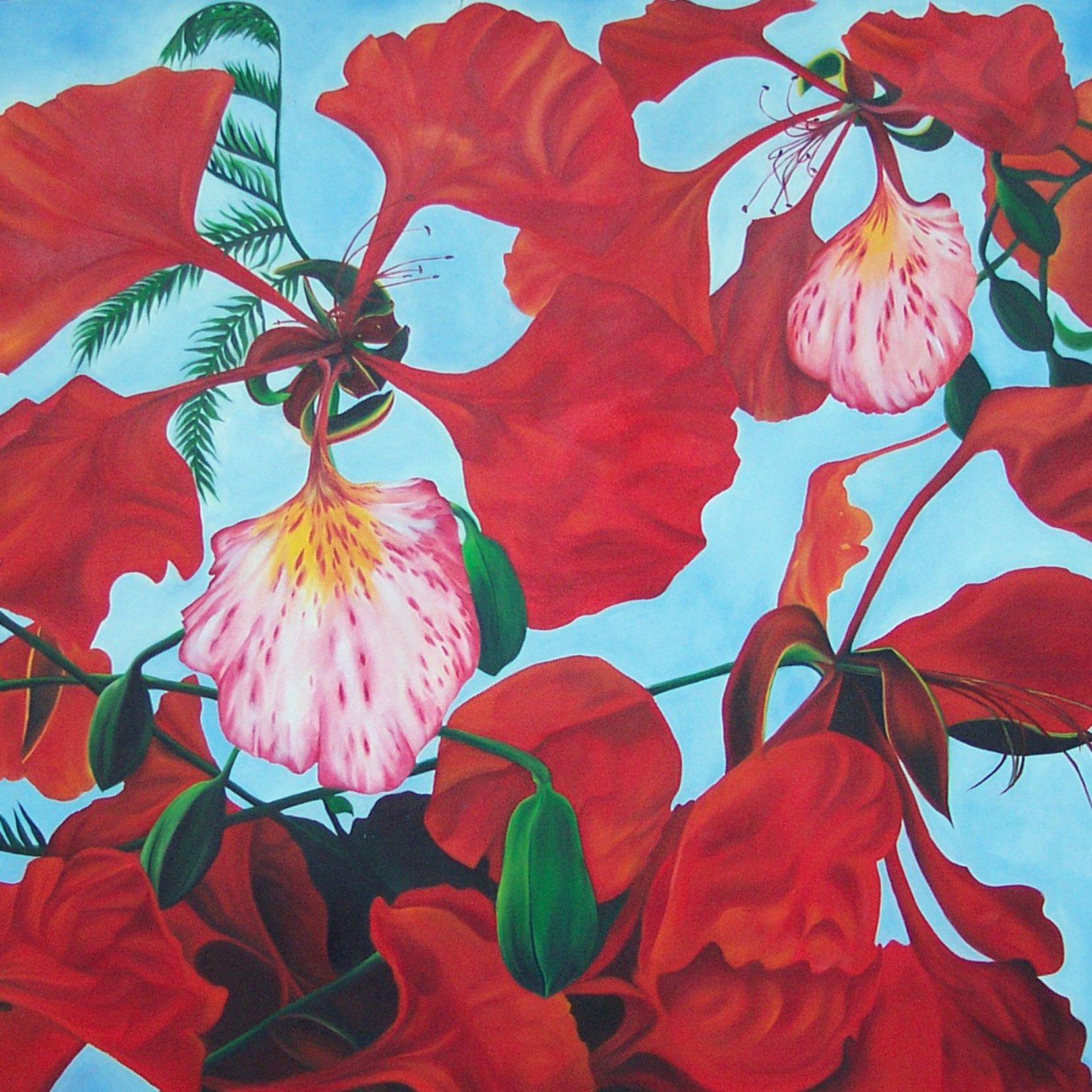 """""""True to myself (la Flor del Flamboyan)"""" (1998) - Angie Del Riego"""