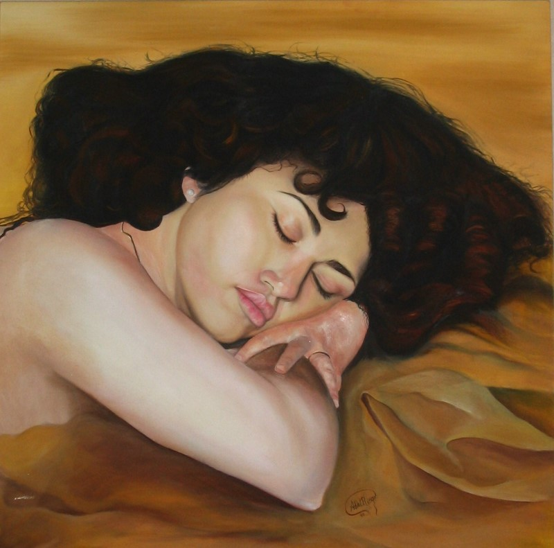 """Girl Sleeping"" (1998) - Angie Del Riego"