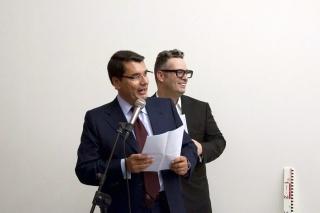 Manuel Leal Rios (President) & Miguel Rios (Director | Curator) — 24 March \ Opening — copyright © Fundação Leal Rios Photography \ Helena Peralta