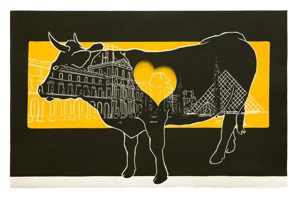 La Enamorada en París (Grabado)