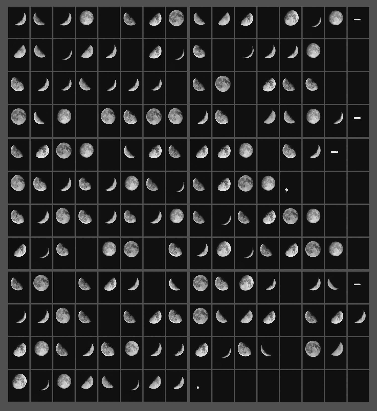 Oración Lunar I (Lunar Sentence I) (2018) - Leandro Katz