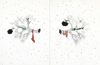 breathing I, II_2019_mixed on paper_100x65cm - Obra de Olimpia Velasco