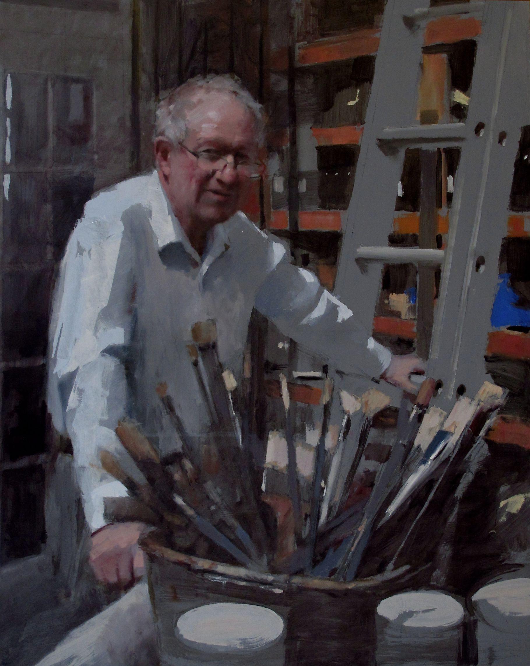 Portrait of Raoul Middleman (2016) - Mark Tennant
