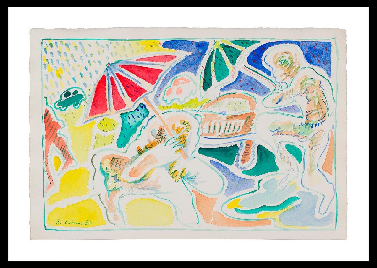 Obra de Acuarela y Pastel (1987) - Eduardo Cohen