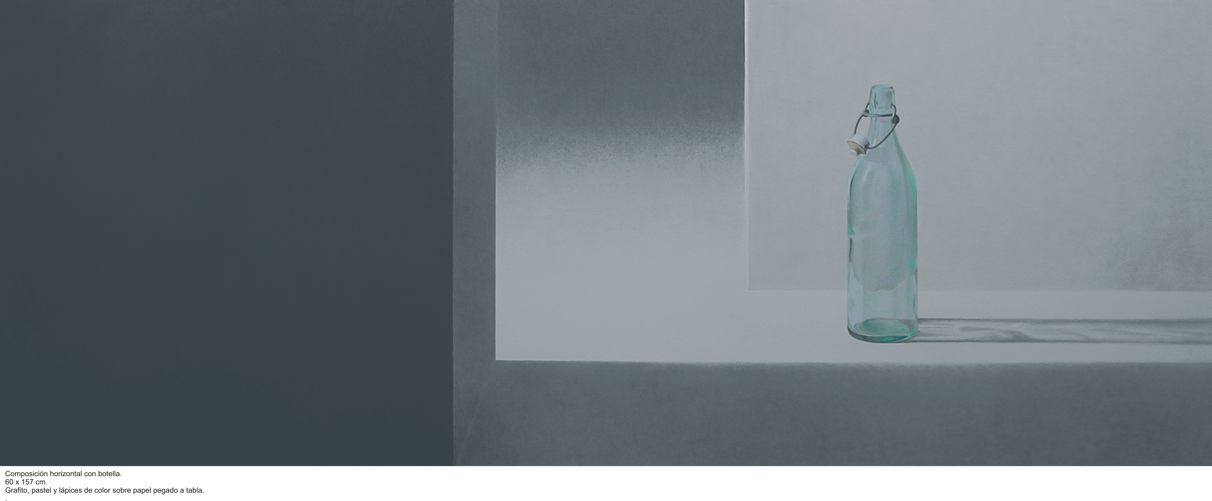 Composición horizontal con botella (2015) - Angel Luis Muñoz Durán