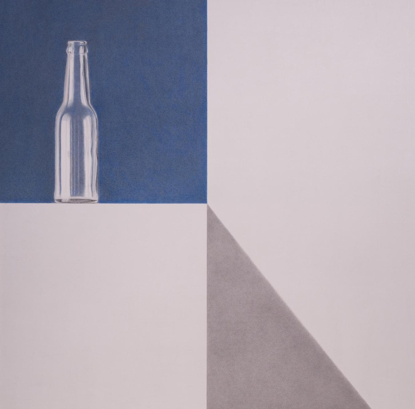 Botella sobre fondo azul (2020) - Angel Luis Muñoz Durán