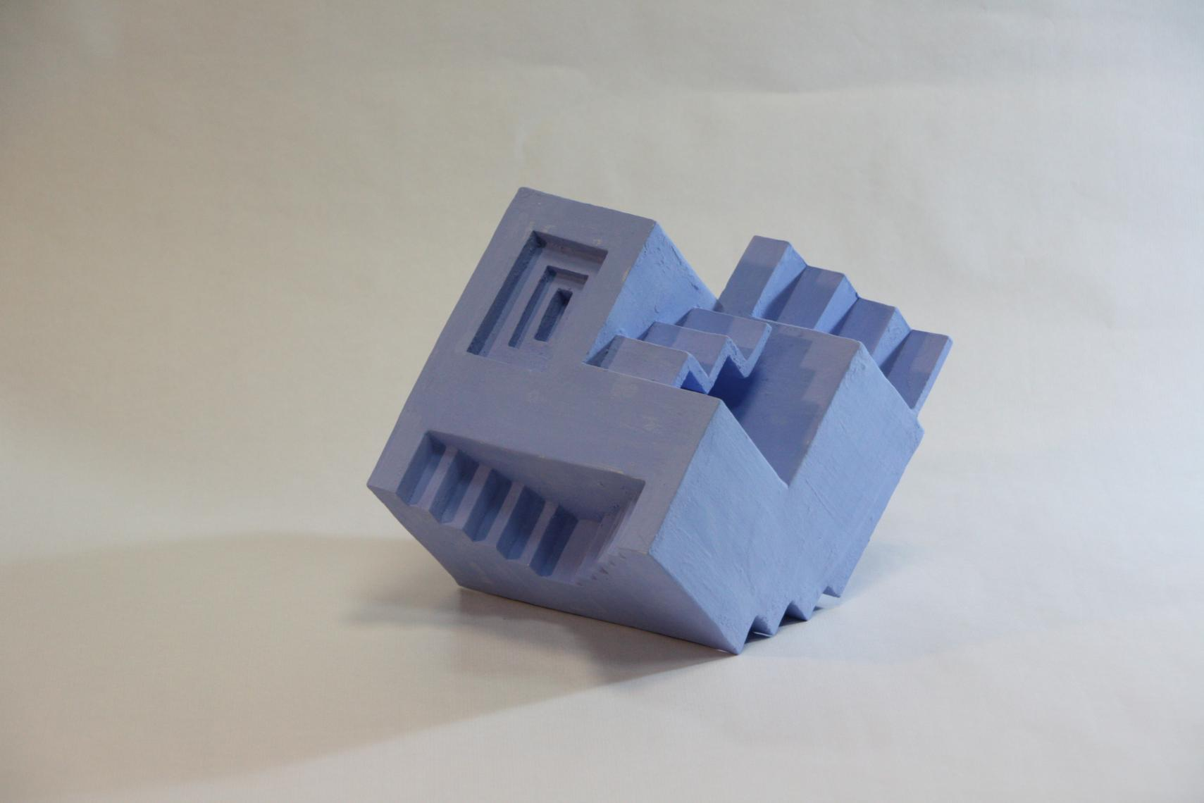 Blue Stair Cube (2019) - Joan Puyal