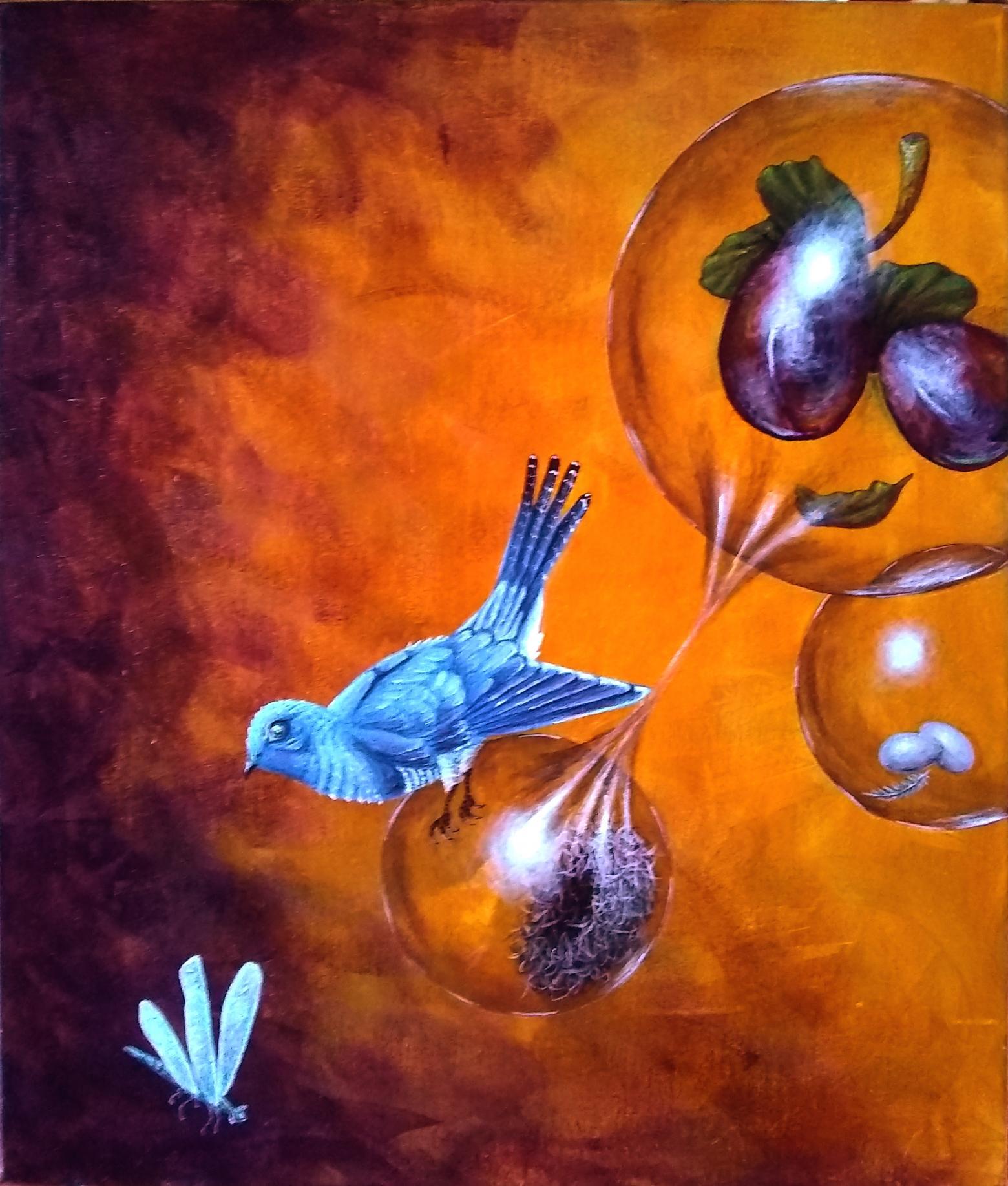 Pájaro nido y esfera (2020) - Oscar Aguirre
