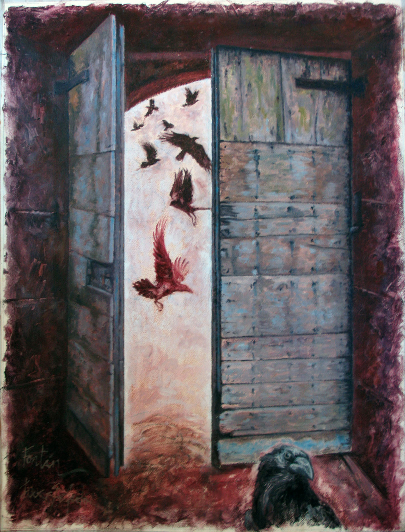 cuervos abiertos