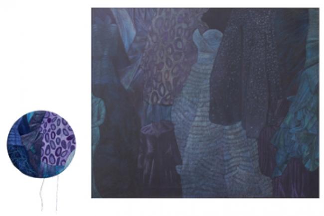 """""""Azul sobre Azul"""" - Díptico - De la serie Tono sobre Tono"""