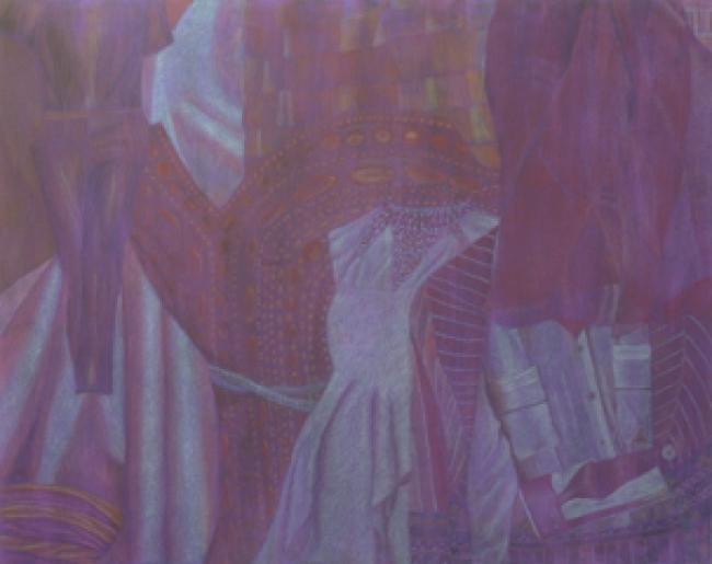 """""""Rojo sobre violeta"""" - De la serie Tono sobre Tono"""