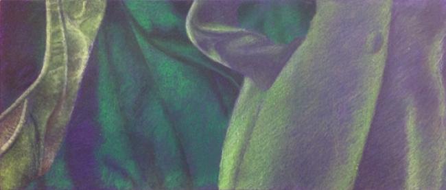 """Verde sobre Violeta"" - De la serie Tono sobre Tono"