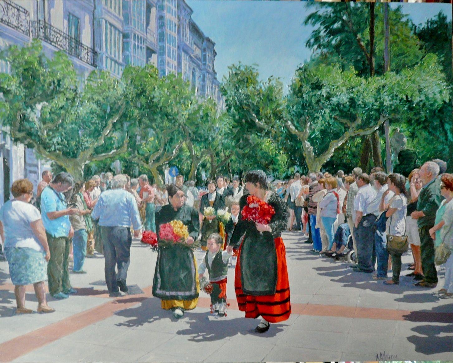 ofrenda de flores 2 (Burgos) (2018) - Miguel Ángel Velasco Diez