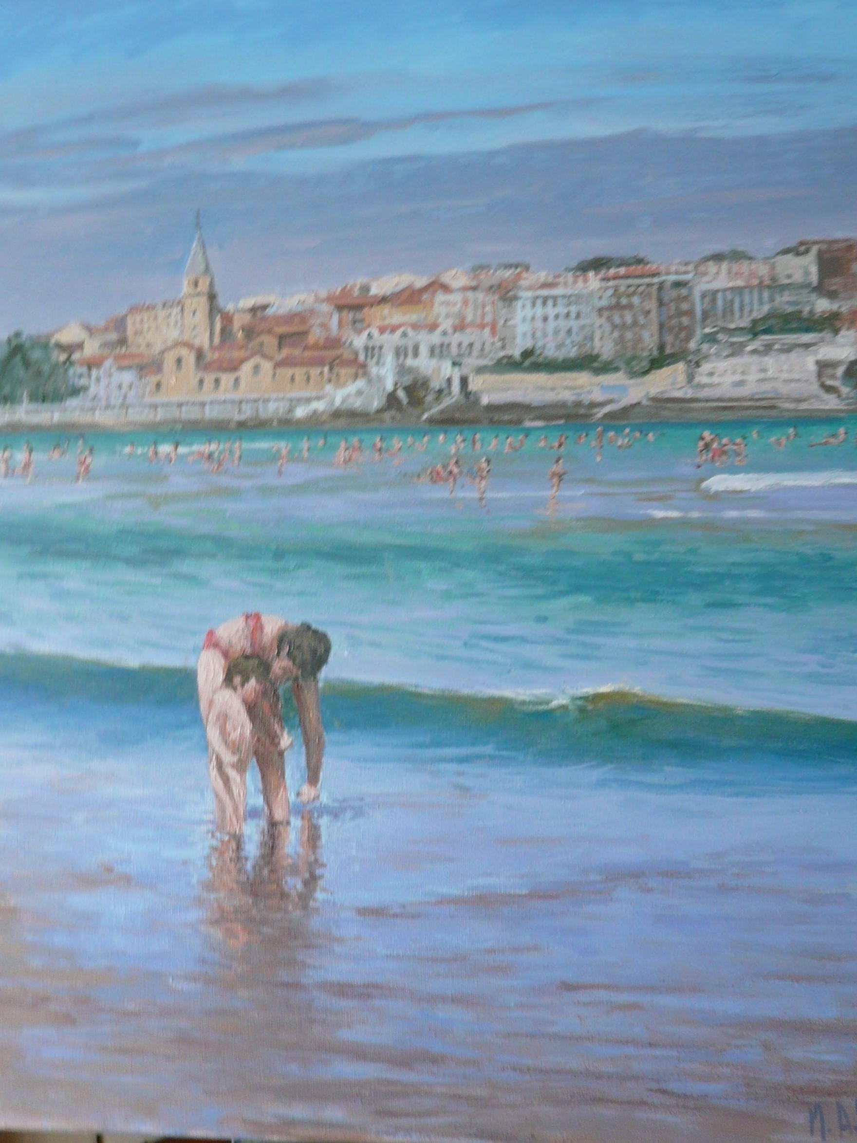 playa de S. Lorenzo, Gijón (2020) - Miguel Ángel Velasco Diez