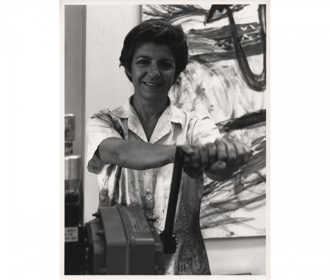 YR en su estudio de la Calle Felipe IV (Madrid) a finales de los años 80.