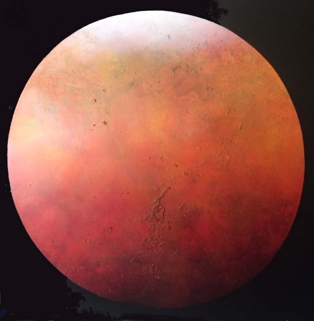 Red planet · oil on canvas · 150x150cm.
