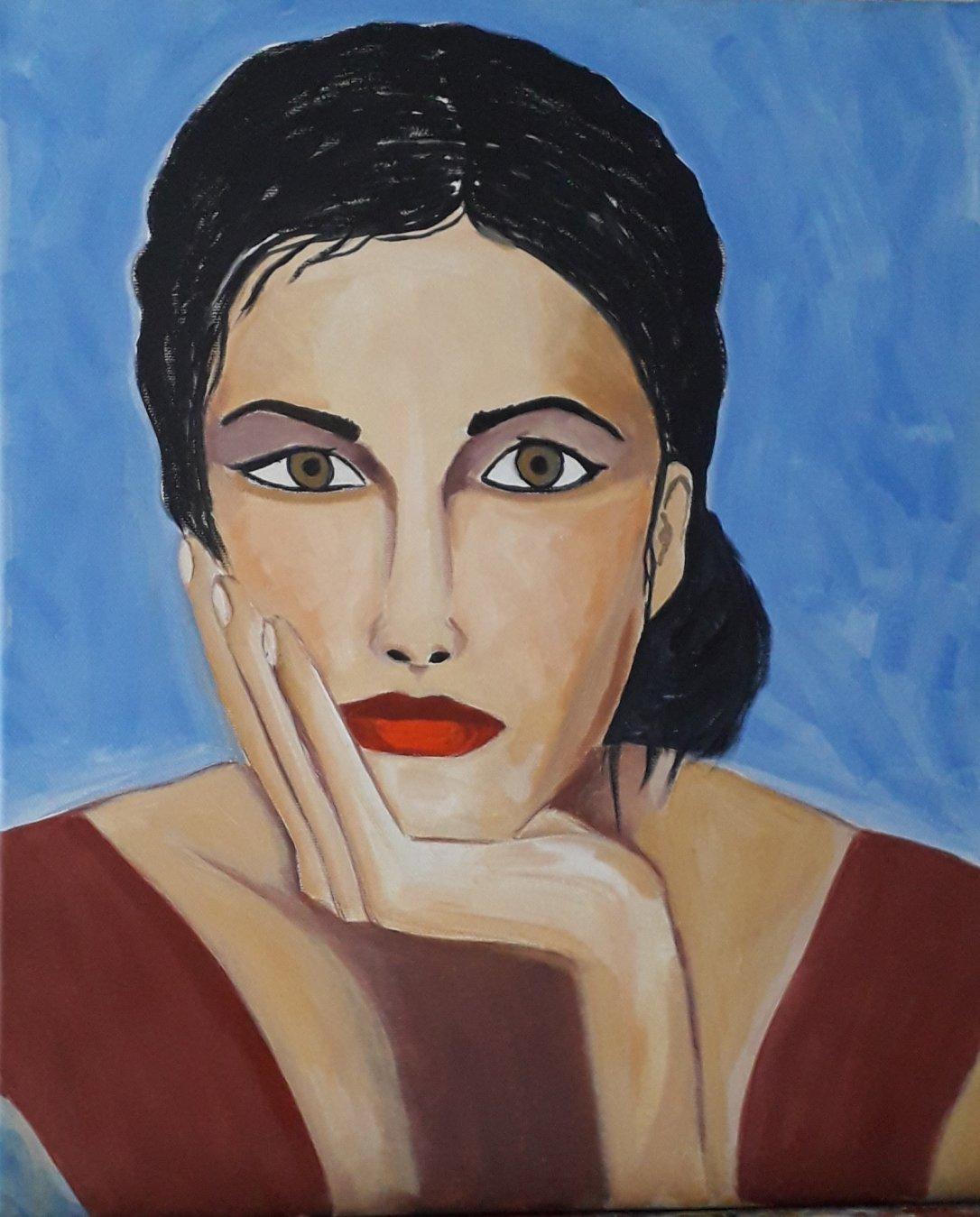 Retrato de mujer mediterranea (2021) - Julia Ledo García - JLedo