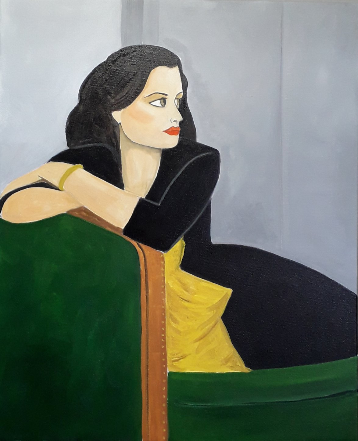 Mujer sobre sofa (2021) - Julia Ledo García - JLedo