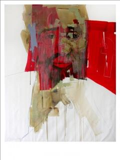 Fidel. Mixta sobre lienzo. 150 x 120 cm. Cortesía del artista